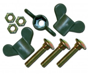 Wing screw with plastic head CarbonX (3 szt.)